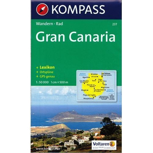 Gran Canaria mapa 1:50 000 Kompass
