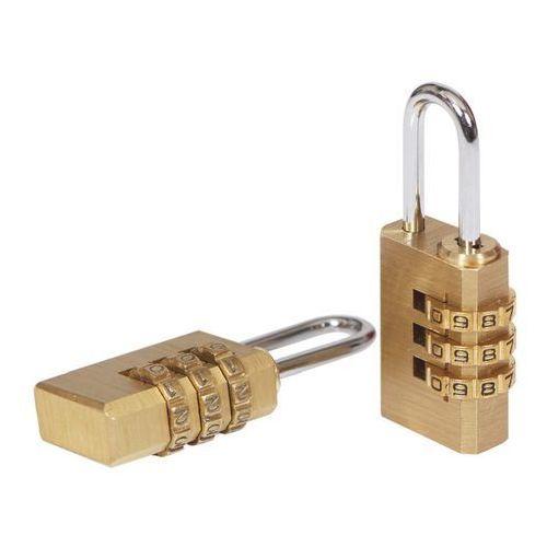 Kłódka szyfrowa mosiądz 21 mm 2 szt. marki Smith and locke