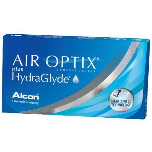 AIR OPTIX PLUS HYDRAGLYDE 3szt +5 Soczewki miesięczne