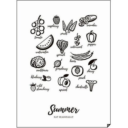 Plakat summer - eat seasonally 30 x 40 cm marki Follygraph