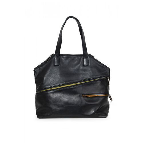 Czarna torba z suwakami - marki Sagan