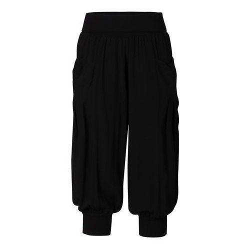 Spodnie 3/4 bonprix czarny, w 2 rozmiarach
