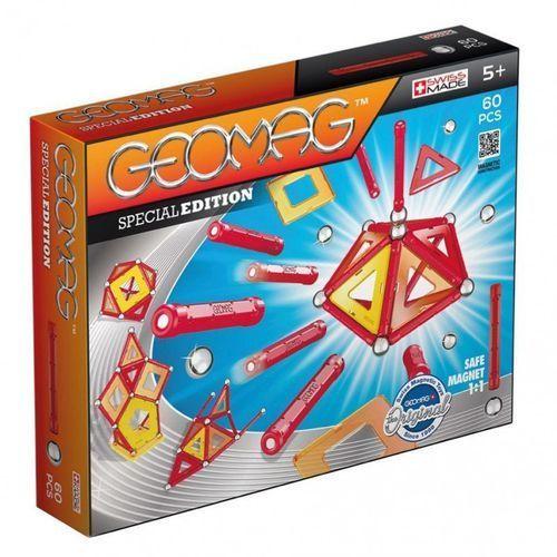 Klocki magnetyczne SPECIAL EDITION PANELE CZERWONE 60 elementów