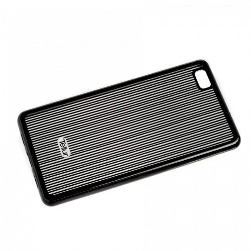 SILICONE COVER HUAWEI P8 LITE VERTICAL STRIPES BLACK z kategorii Futerały i pokrowce do telefonów