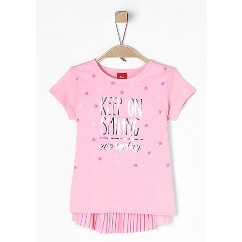 S.oliver t-shirt dziewczęcy, 104-110 jasnoróżowy