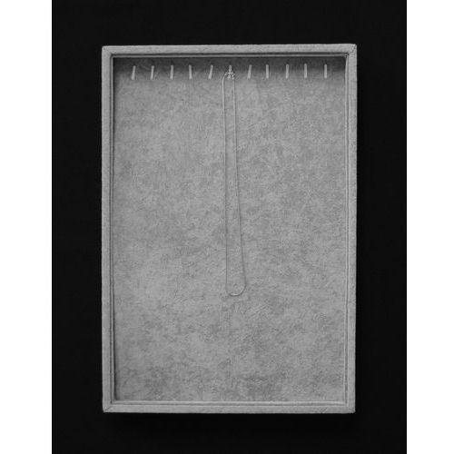 Szara, tacka do prezentacji biżuterii np. łańcuszków - pionowa, 01135
