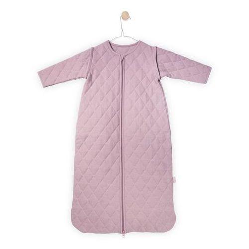 Jollein - Śpiworek do spania z rękawkami 6 -18 miesięcy - Mini Waffle Brudny róż (8717329325760)