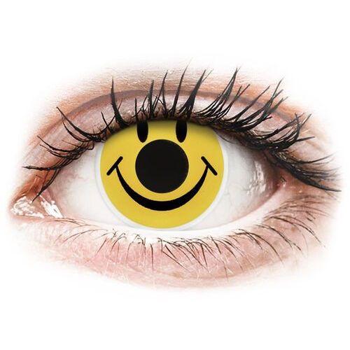 Soczewki kolorowe żółte SMILEY Crazy Lens 2 szt.