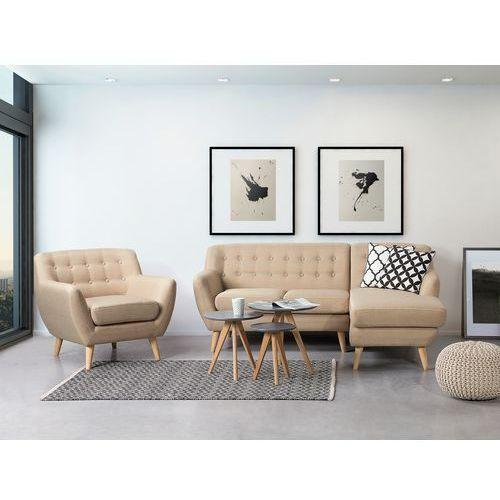 OKAZJA - Sofa beżowa - kanapa - tapicerowana - narożnik - MOTALA - produkt z kategorii- Narożniki