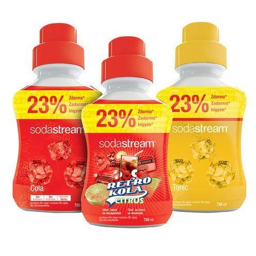 Sodastream syropy retro cola, tonic, cola 750 ml