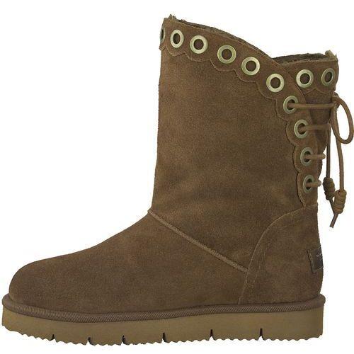 Tamaris buty zimowe damskie 36 brązowy, kolor brązowy
