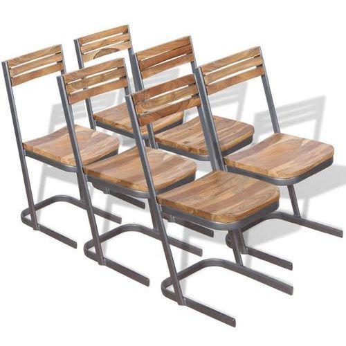 Krzesło do jadalni 6 szt., drewno tekowe