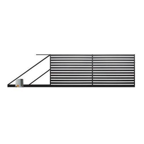 Brama przesuwna z automatem Polbram Steel Group Lara 2 4 x 1,54 m czarna lewa