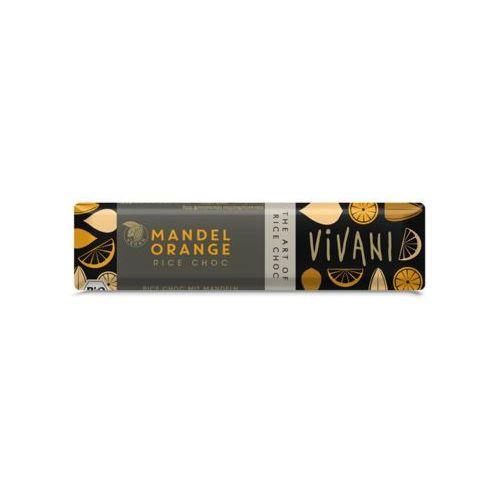 Baton z pomarańczą i migdałami (na napoju ryżowym) bio 35 g -  marki Vivani