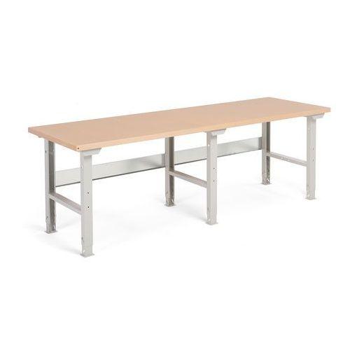 Stół warsztatowy ROBUST, 2500x800 mm, utwardzana płyta