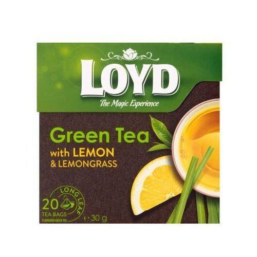 Loyd 20x1,7g herbata zielona o smaku cytryny piramidki marki Loyd tea