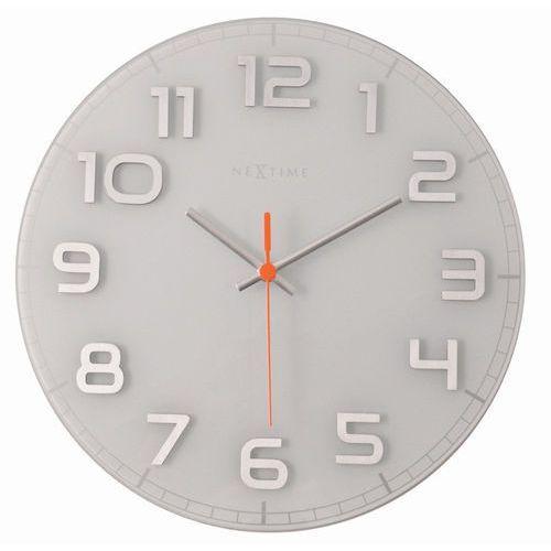 NeXtime - zegar ścienny Classy 30 cm - biały