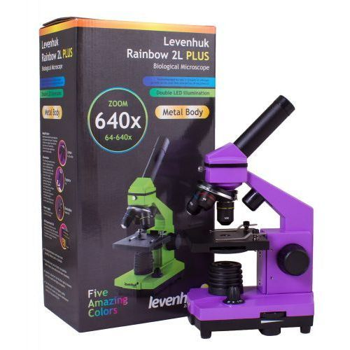 Mikroskop Levenhuk Rainbow 2L PLUS Amethyst\Ametyst