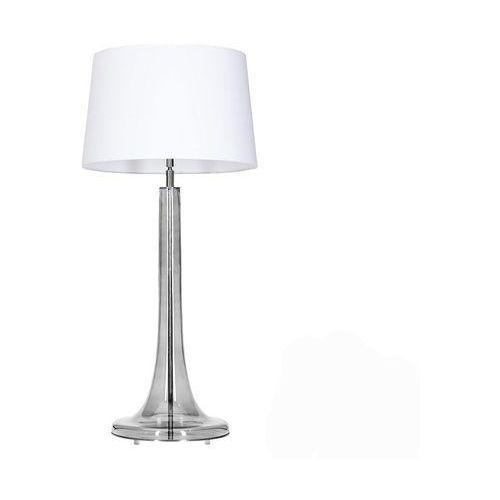 4concepts Lampa oprawa stołowa lozanna transparent black 1x60w e27 biały l214282230