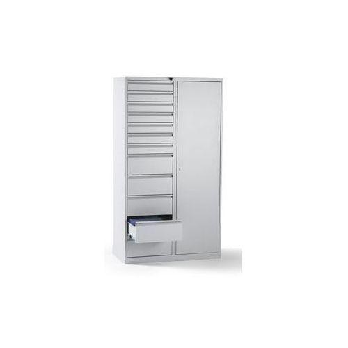 Szafka szufladowa, stal,wys. x szer. x głęb. 1800 x 1000 x 500 mm, 12 szuflad