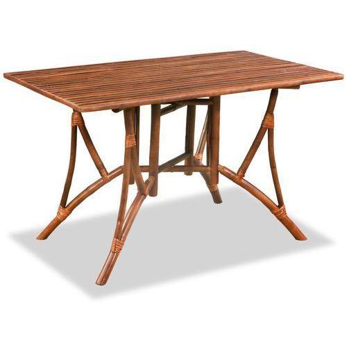 Stół prostokątny do jadalni, bambus, 115x70x75 cm, brązowy marki Vidaxl
