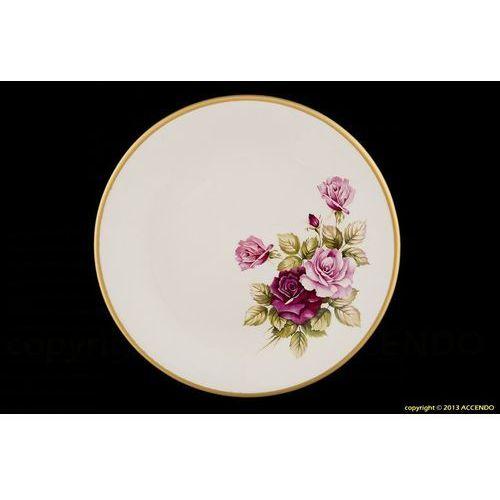 Mieroszów Talerz płytki róża serwis obiadowy