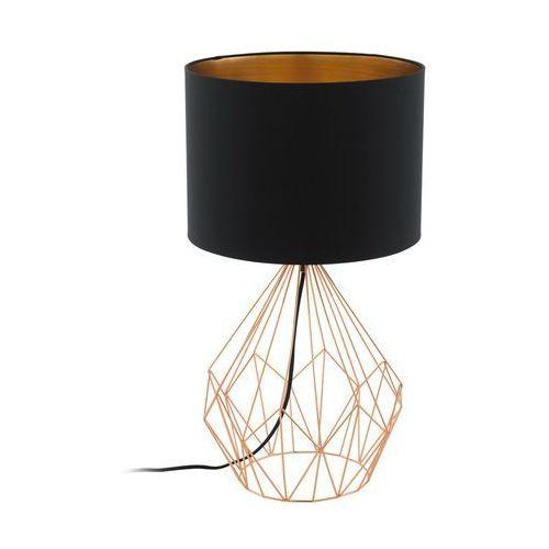 Lampka stołowa pedregal 95185 lampa oprawa 1x60w e27 czarna/miedź marki Eglo