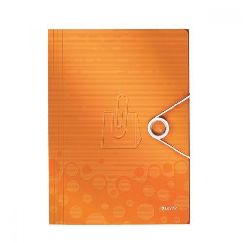 Teczka z gumką Leitz WOW 15mm pomarańczowa 45990044, 32326