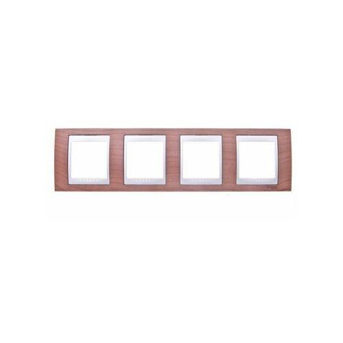 SCHNEIDER UNICA TOP Ramka 4-krotna pozioma wiśnia MGU66.008.0M2 (8420375116151)