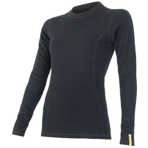 koszulka termoaktywna z długim rękawem double face merino wool w black xl marki Sensor