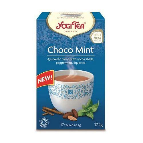 Herbata ekspresowa choco mint z kakao i miętą bio (yogi tea) 17 saszetek po 1,8g marki Yogi tea, usa