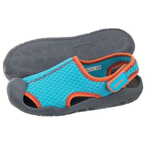 Sandałki swiftwater sandal k cerulean blue 204024-43l (cr128-a) marki Crocs
