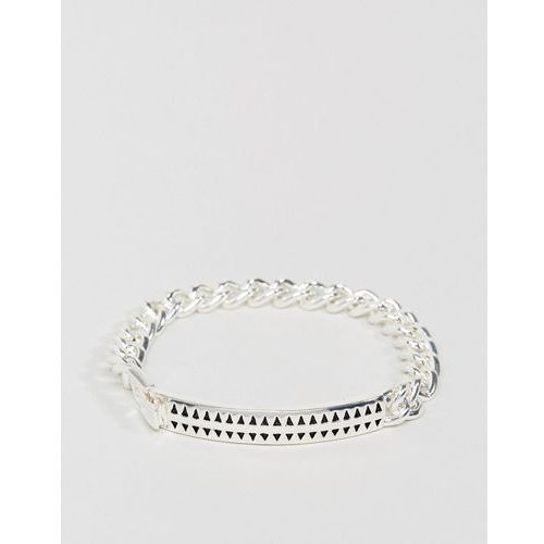 premium hound tooth id bracelet in silver - silver marki Icon brand