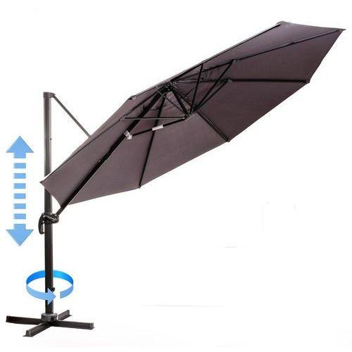 MAKERS parasol ogrodowy Roma, boczny 3,5 m, szary (8594173120464)