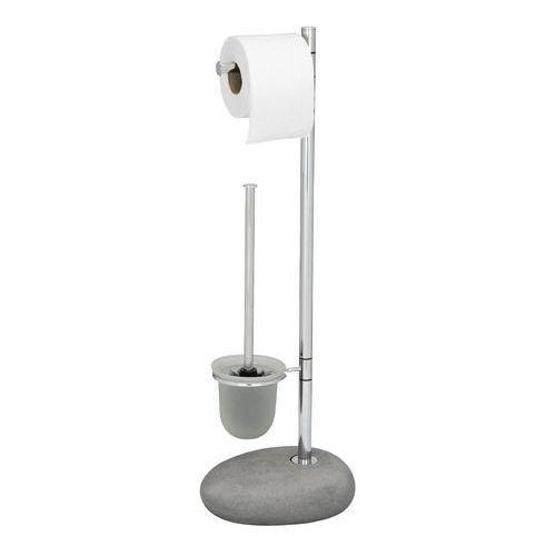 Stojak na papier toaletowy i szczotkę do WC, PEBBLE STONE - 2 w 1, WENKO, B007JQEUPE