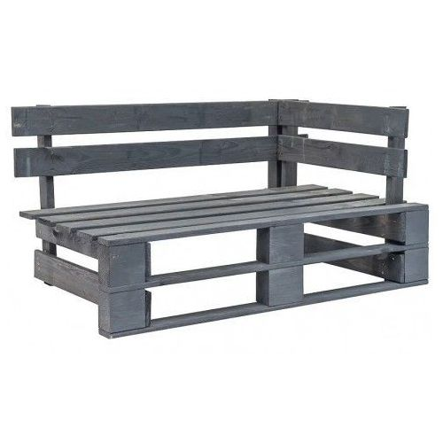 Ławka ogrodowa z palet canther 2x - szara marki Producent: elior