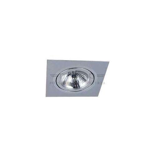 Oczka lampa sufitowa faro i alluminio metalowa oprawa podtynkowa wpust kwadratowy aluminium marki Orlicki design