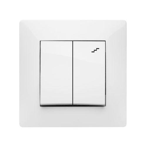 volante łącznik podwójny schodowy biały 2618-00 marki Elektroplast