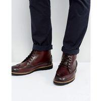 creasy brogue boots in bordo - red marki Original penguin