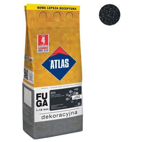 Fuga cementowa brokatowa 304 czarny diament 2 kg marki Atlas