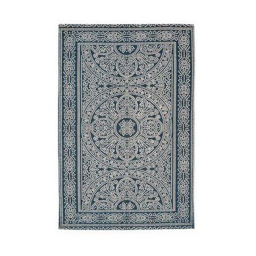 Dywan bawełniany ethnic niebieski 60 x 90 cm marki Inspire