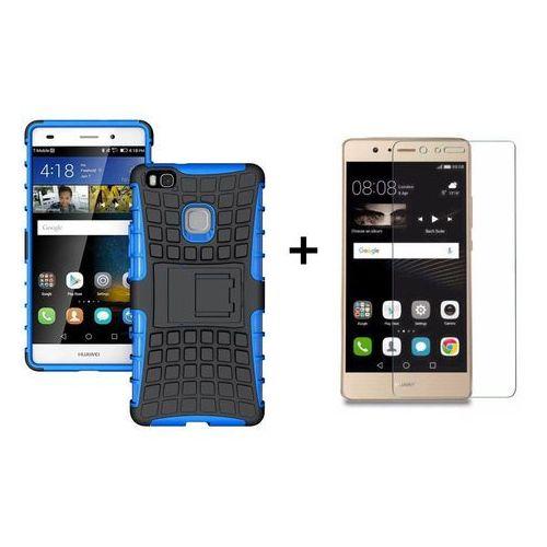 Zestaw | Perfect Armor Niebieska + Szkło ochronne Perfect Glass | Pancerna obudowa etui dla Huawei P9 Lite, kolor niebieski