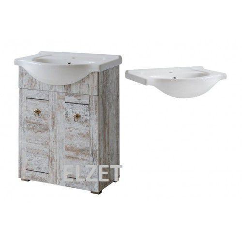 COMAD szafka Prowansja sosna bielona + umywalka 65 PROWANSJA820+CFP65