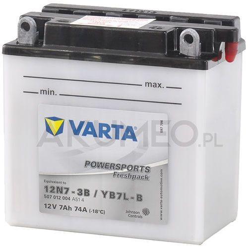 Akumulator powersports yb7l-b 12v 7ah 74a prawy+ op marki Varta