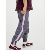tapered joggers in grey with lilac side tape - grey marki Asos design