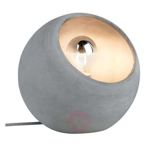Bardzo nowoczesna betonowa lampa stołowa ingram marki Paulmann