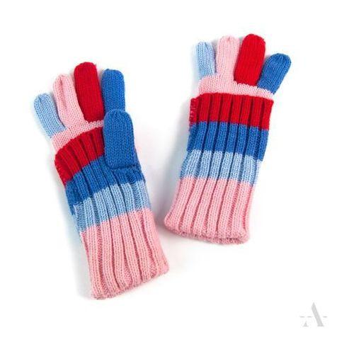 Evangarda Czterokolorowe uniwersalne rękawiczki 2 w 1 długie i krótkie - niebieski   czerwony   różowy