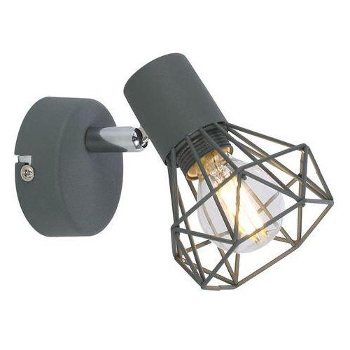 Candellux verve 91-60969 kinkiet lampa ścienna spot 1x40w e14 szary mat