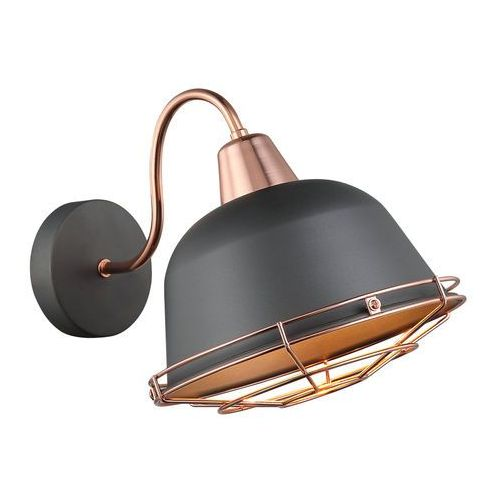 Kinkiet Italux Annika MBM3053/1 GR+COP lampa ścienna 1x40W E27 szary / miedź