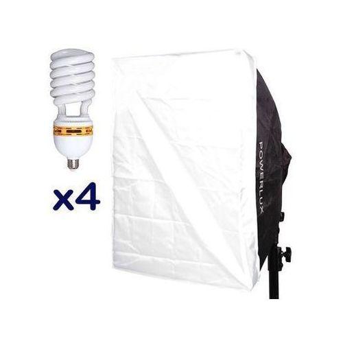 Funsports z softboxem 4-świetlówkowym Powerlux RC-574 50x70 cm + 4x świetlówka 85W 5400K